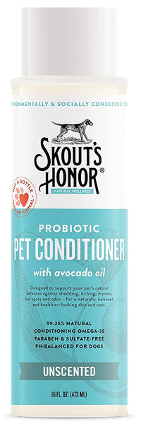 Skout's Honor Probiotic Pet Conditioner Unscented 16 oz