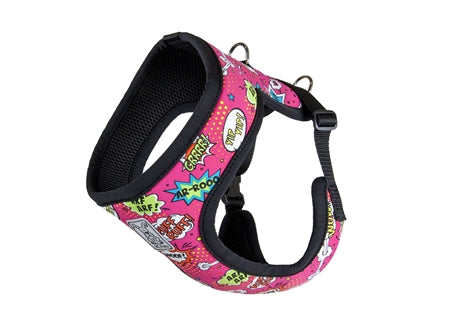 RC Pet Step In Harness, Pink Comic Sounds
