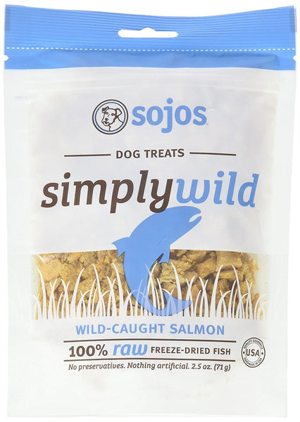 Sojos Simply Wild Salmon Freeze-Dried Dog Treats, 2.5-oz bag