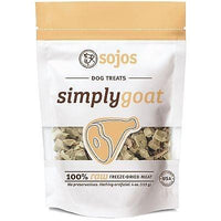 Sojos Simply Goat Freeze-Dried Dog Treats, 4-oz bag