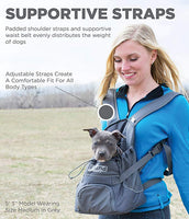Outward Hound PoochPouch Front Carrier For Dogs, Gray Small (up to 10lbs)