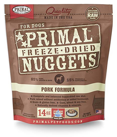 Primal Pork Formula Nuggets Grain-Free Raw Freeze-Dried Dog Food