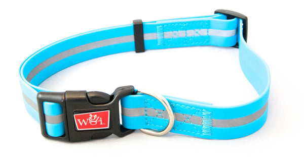 Wigzi Waterproof Collar Neon Blue