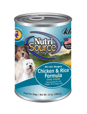 Nutrisource Adult Chicken and Rice Canned Dog Food, 13oz