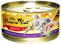 Fussie Cat Super Premium Chicken with Duck Formula in Gravy Grain-Free Canned Cat Food, 2.8-oz