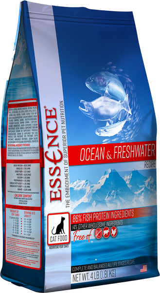 Essence Dry Cat Food Ocean & Freshwater Recipe 4 lb Bag