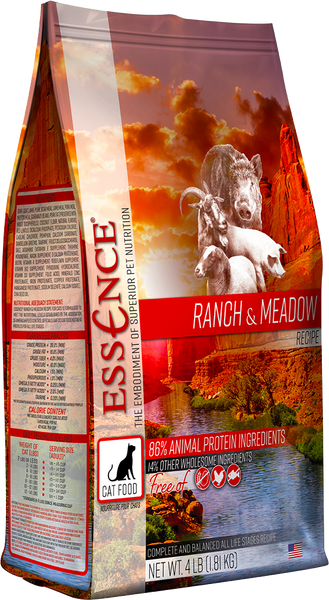 Essence Dry Cat Food Ranch & Meadow Recipe 4 lb Bag