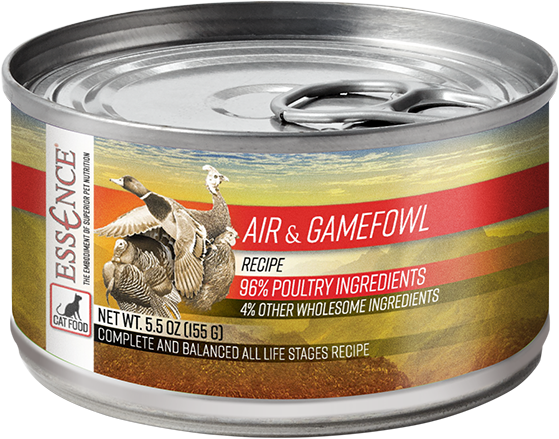 Essence Wet Cat Food Air & Gamefowl Recipe 5.5 oz Can
