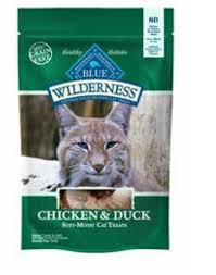 Click to open expanded view video     PrevNext Blue Buffalo Wilderness Chicken & Duck Grain-Free Cat Treats, 2-oz bag