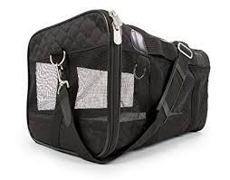 Sherpa Travel Original Deluxe Airline Approved Pet Carrier, M Black (up to 22lbs)