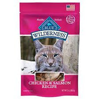 e Buffalo Wilderness Chicken & Salmon Grain-Free Cat Treats, 2-oz bag