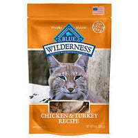 Blue Buffalo Wilderness Chicken & Turkey Grain-Free Cat Treats, 2-oz bag