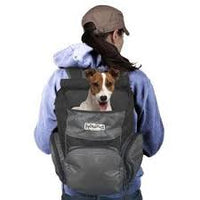 Outward Hound PoochPouch Backpack Carrier, Gray (up to 20lbs)