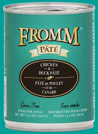 Fromm Grain-Free Chicken and Duck Pate Canned Dog Food, 12.2-oz