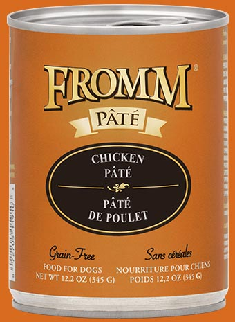 Fromm Grain-Free Chicken Pate Canned Dog Food, 12.2-oz