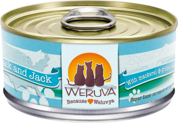 Weruva Mack and Jack with Mackerel & Grilled Skipjack Grain-Free Canned Cat Food