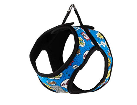 RC Pet Step In Harness, Blue Comic Sounds
