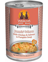 Weruva Jammin' Salmon with Chicken & Salmon in Pumpkin Soup Grain-Free Canned Dog Food, 14-oz can