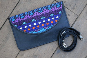 Nicavana Leather crossbody bag with strap