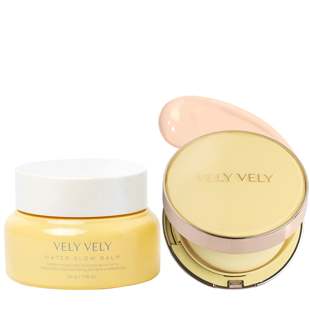 Water Glow Balm + Aura Honey Glow Cushion+Refill Set - VELY VELY