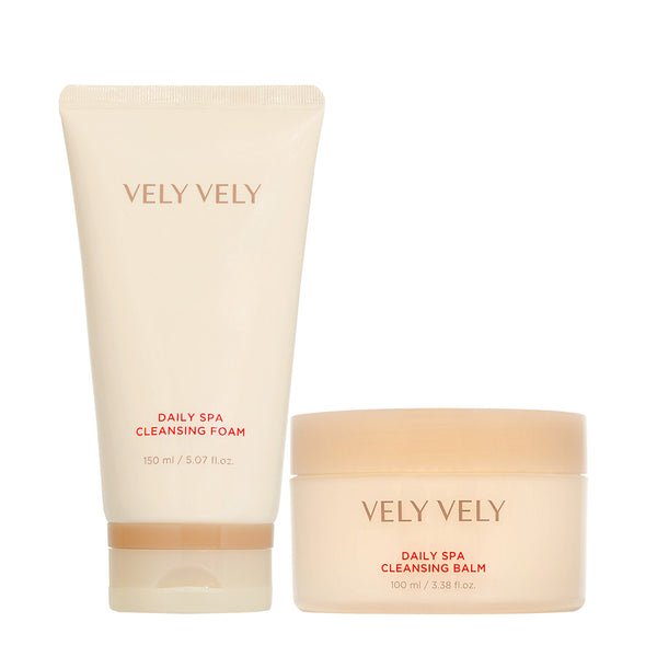 Daily Spa Cleansing Balm + Foam Set - VELY VELY
