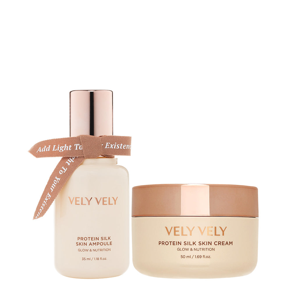 Protein Silk Skin Ampoule + Cream Set - VELY VELY
