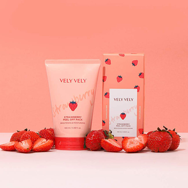 Strawberry Peel Off Pack - velyvelyus