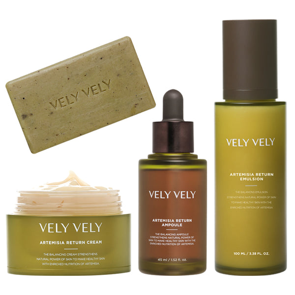 Artemisia Return Emulsion + Ampoule + Cream + Soap Set - VELY VELY