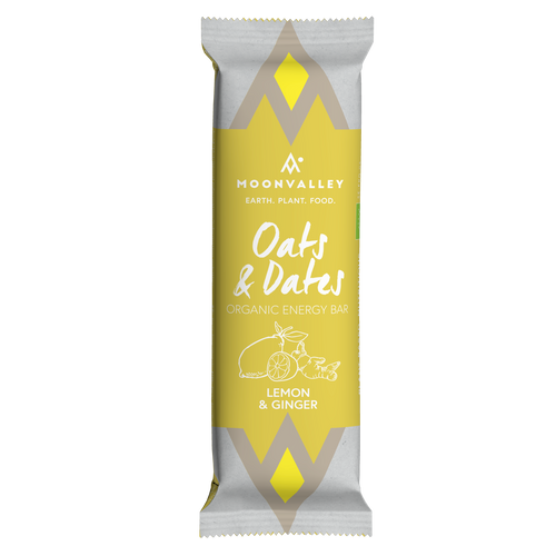 Organic Energy Bar – Lemon & Ginger - Box of 18