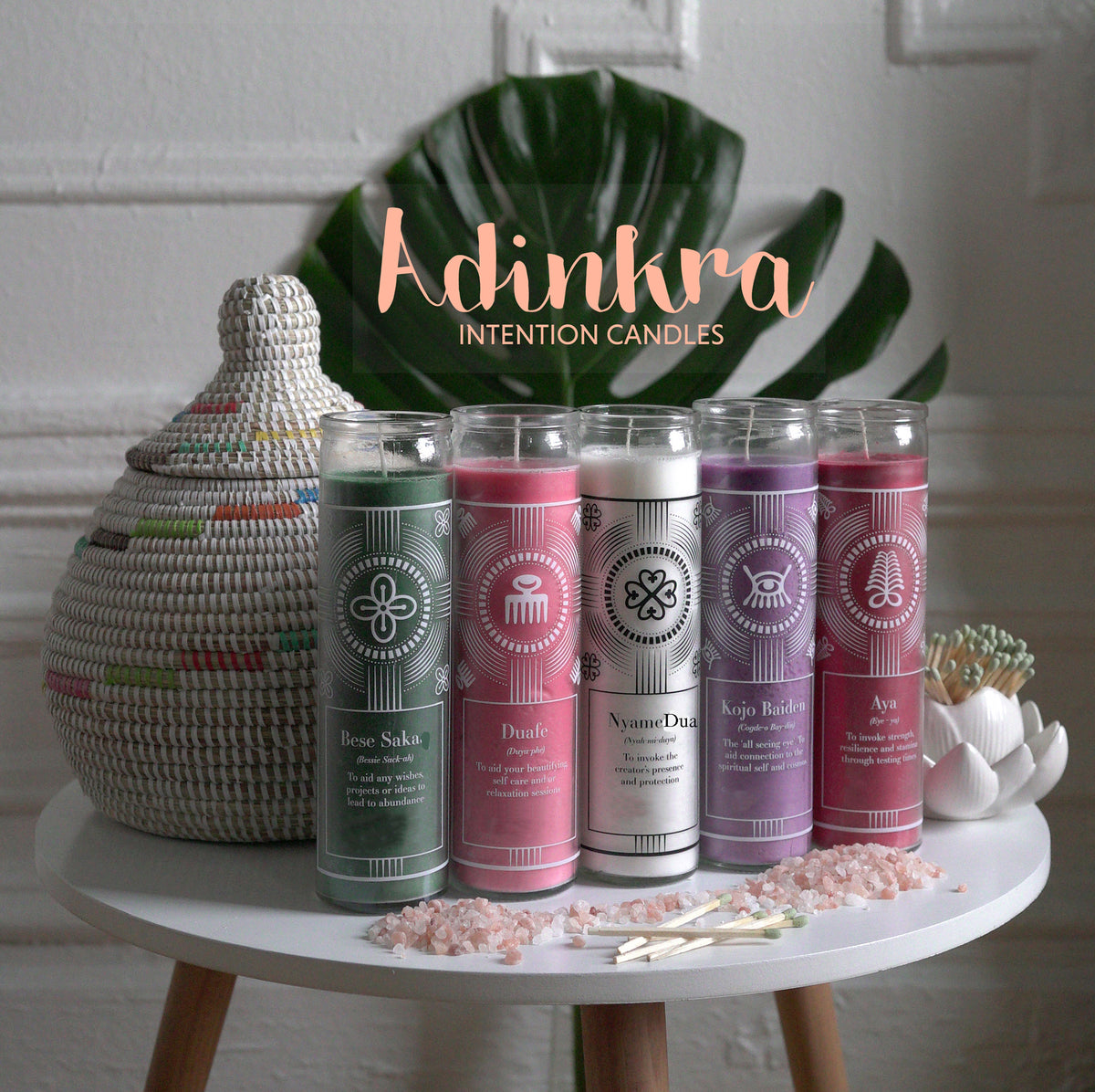Full size collection - Adinkra Intention Candles