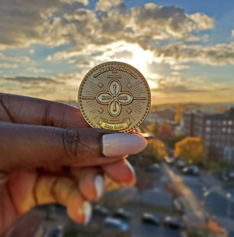 The Abundance Coin - Adinkra Manifestation Coins