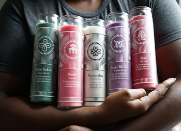 Adinkra Intention Candles - set of five