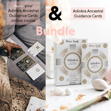Master Your Adinkra Ancestral Guidance Cards Course and Deck *Bundle*