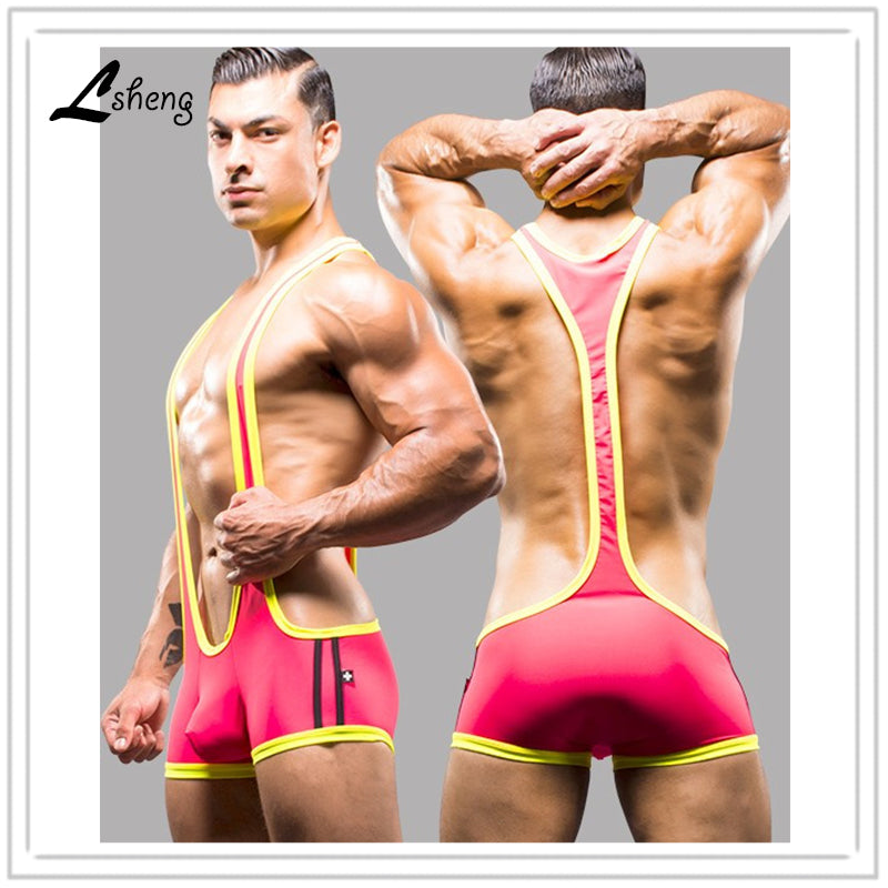 New Men Shapers Sexy Singlet Unitard Lingerie Underwear Man Body Shaper Bodysuit Wrestling Leotard Board Beach Swimwear-iehrb