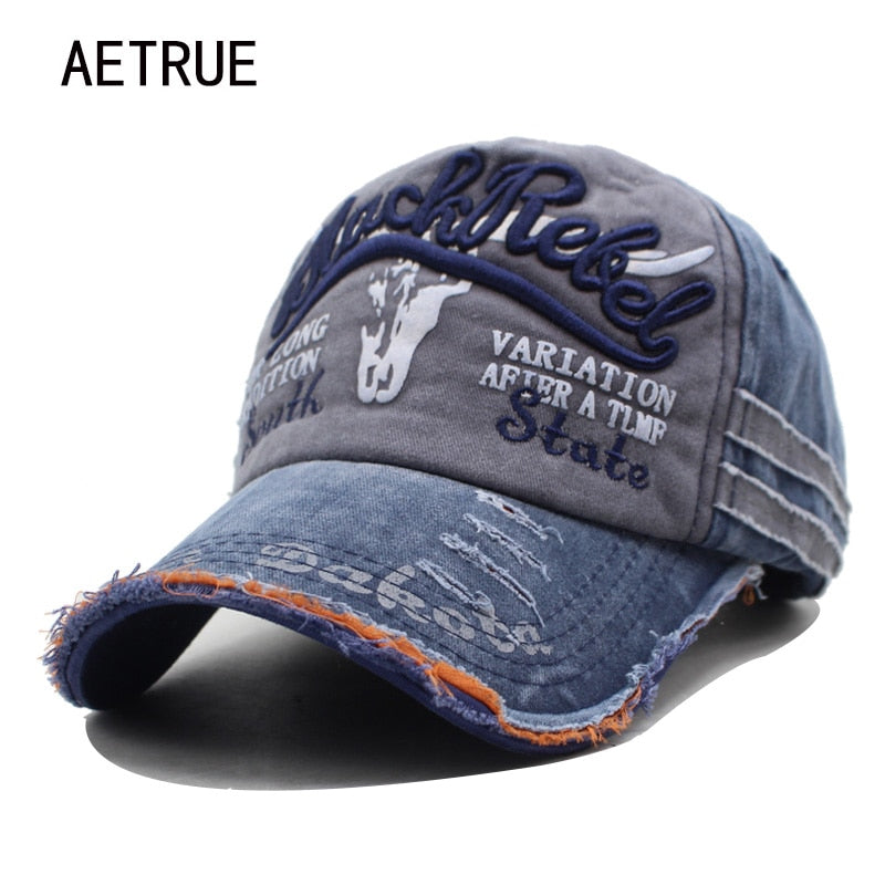 AETRUE Brand Men Baseball Caps Dad Casquette Women Snapback Caps Bone Hats For Men Fashion Vintage Hat Gorras Letter Cotton Cap-iehrb