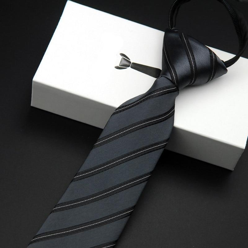 Zipper Tie 5.5cm Lazy Necktie Easy To Pull Men's Commercial Formaliehrb-iehrb