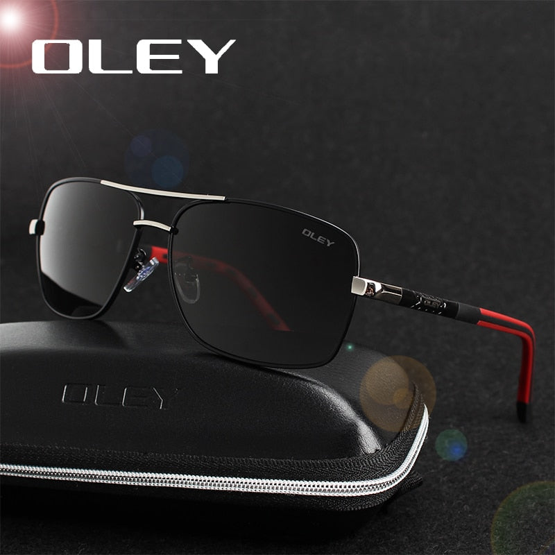 OLEY Brand Polarized Sunglasses Men New Fashion Eyes Protect Sun Glasses With Accessories Unisex driving goggles oculos de sol-iehrb