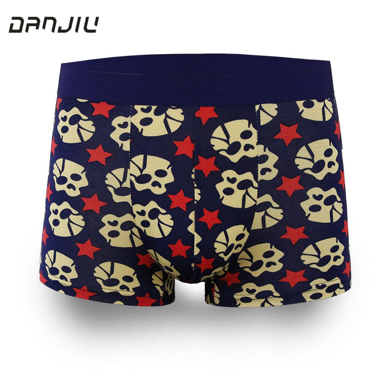 DANJIU Best Sell Fashion Ice Silk Underwear Men Cartoon Print Man Boxers Homme Comfortable Underpants Soft Breathable Male Pants-iehrb