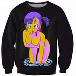 Sexy Dragon Ball Z Cartoon Bulma 3D Print Sweatshirt vibrant jumperiehrb-iehrb