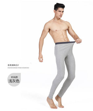 Hot Winter Men Long Johns Cotton Thermal Underwear Men Warm Long Johns Leggings Pants High Quality 4 colour for male 2017 new-iehrb