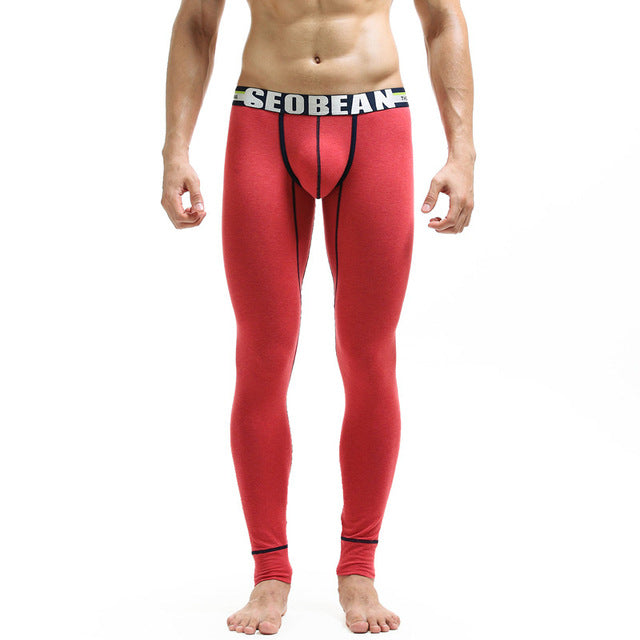 New men's long johns separate thick tight themal underwear autumn and winter legging long johns 3 colors-iehrb