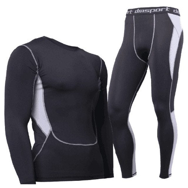 Hot-Dry Thermal Underwear Sets Men Winter Compression Thermo Underwear Men's Lucky John Cueca Long Tights Men's Long Johns Suit-iehrb