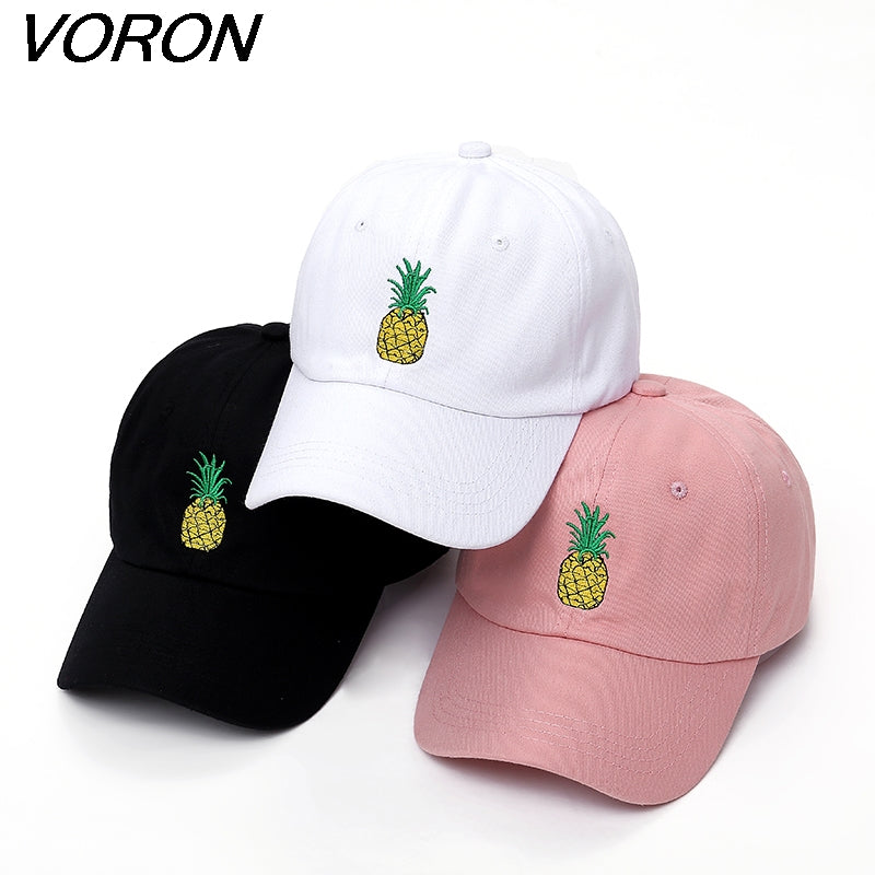 VORON men women Pineapple Dad Hat Baseball Cap Polo Style Unconstructed Fashion Unisex Dad cap hats-iehrb