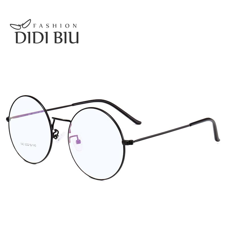DIDI Vintage Lovers Korea Round Glasses Frame Woman Men Brand Eyeglass Frameiehrb-iehrb