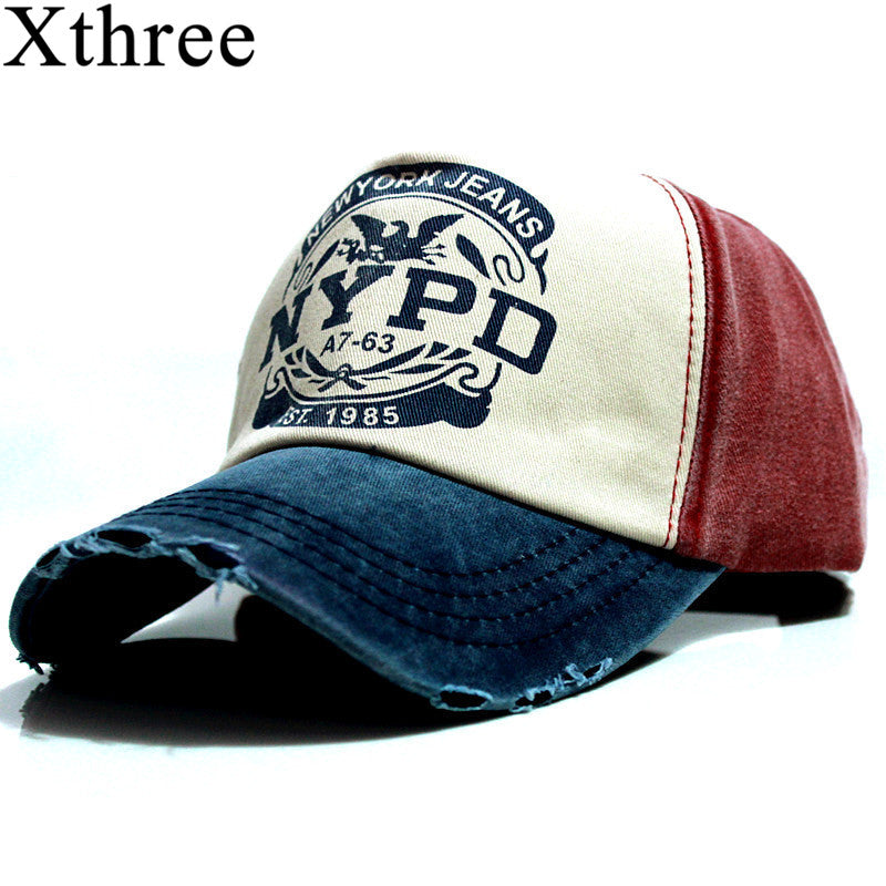 xthree wholsale brand cap baseball cap fitted hat Casual cap gorras 5 panel hip hop snapback hats wash cap for men women unisex-iehrb