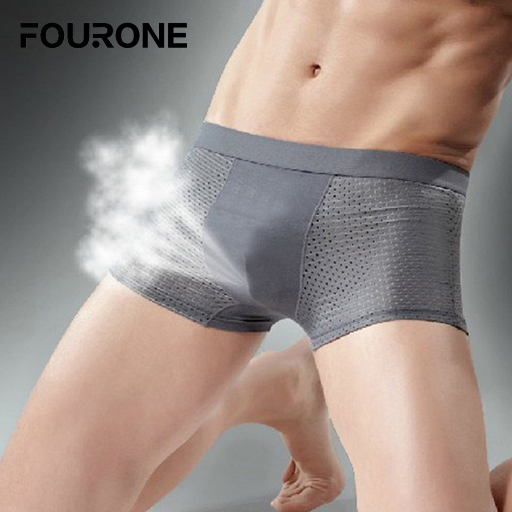 Comfortable Men's Super-elastic Hollow Breathable and Comfortable Antibacterial underwear-iehrb
