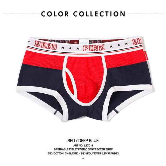 Pink Heroes Hot 2017 Cheap Mens cotton boxer shorts Fashion underwear brand underwear men boxers boxer sexy 121270-iehrb