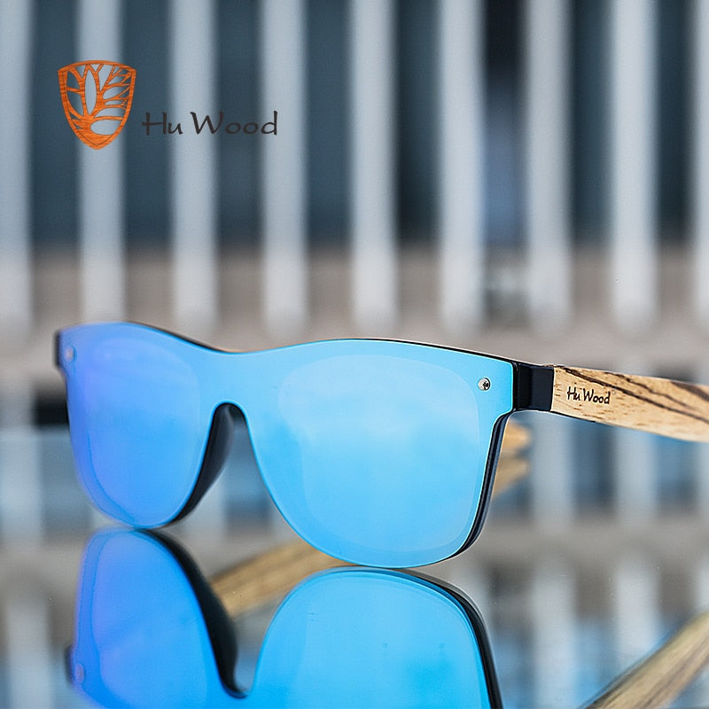 HU WOOD 2018 Brand Vintage Style Sunglasses Men Flat Lens Rimless Square Frame Women Sun Glasses Fashion Oculos Gafas GRS8021-iehrb
