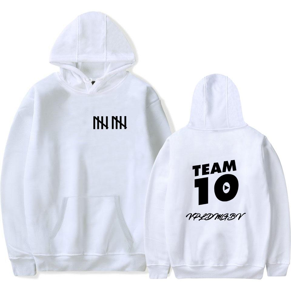 Jake Paul Team 10 Winter Fashion Hoodies Grey Men Hoodie Top Sportsweariehrb-iehrb