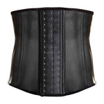 Latex Men Corset Waist Trainer 9 steel Boned Hot Body Shaper Waist Cincher Corset Belt Girdle Men Shapewear Men Weight Loss Belt-iehrb